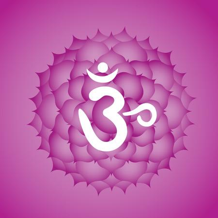 Sahasrara kruinchakra symbool Stock Illustratie