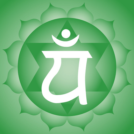 Anahata heart chakra symbol