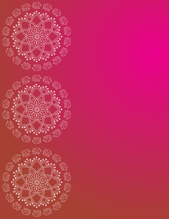 Colorful traditional Indian elephant mandala border design with space for text Vector