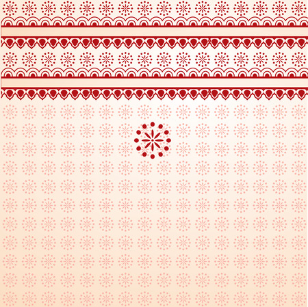 saree: Traditional Asian henna saree background with space for text Illustration