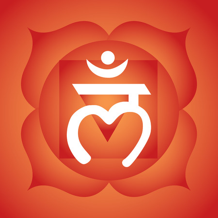 Muladhara chakra symbool Stock Illustratie