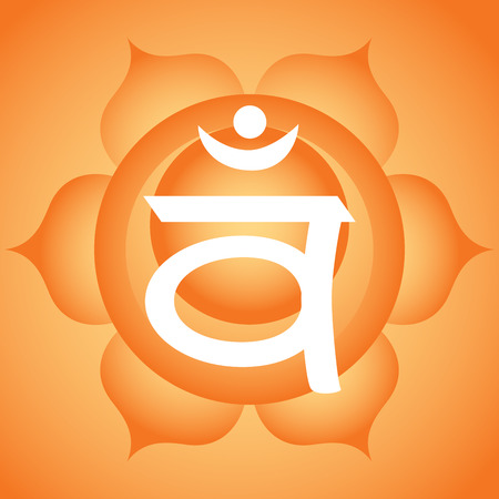 sacral: Swadhistana sacral chakra symbol