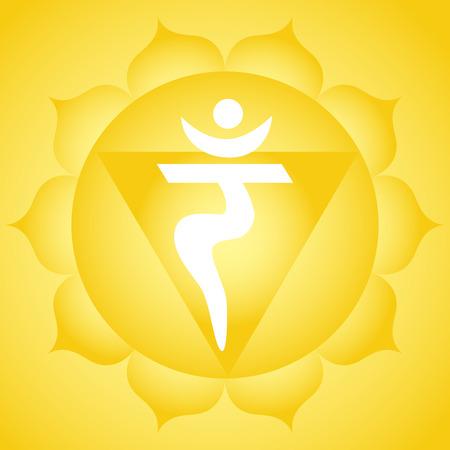 Manipura solar plexus chakra symbool
