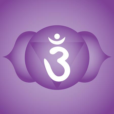 Simbolo del chakra del terzo occhio Ajna
