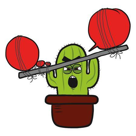 aggressive cactus drawing