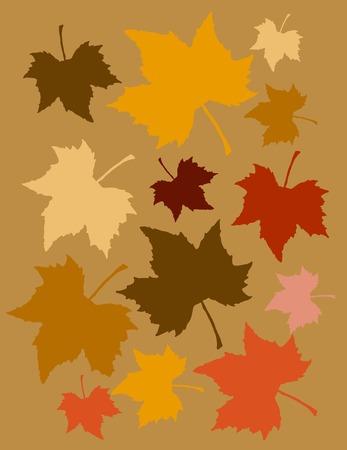 Autum leaves pattern.