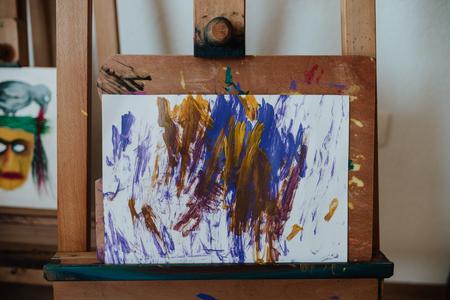 children art workshop Foto de archivo