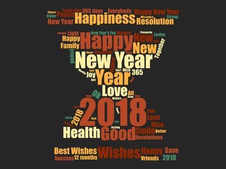 New year icon design Reklamní fotografie - 89824280