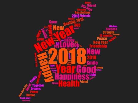 New year icon design Reklamní fotografie - 89824284