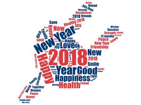 New year icon design Ilustrace