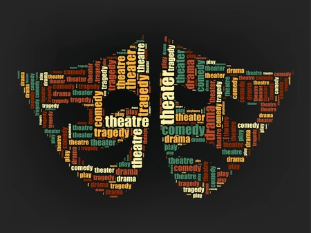 theater icon word cloud design