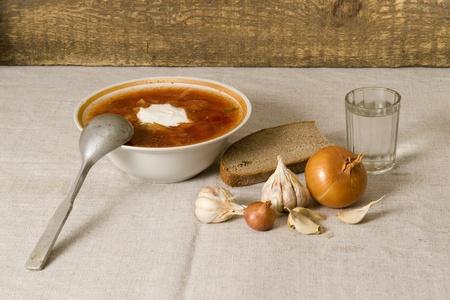 Ukrainian borscht Stock Photo - 8964790