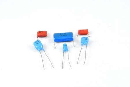 Radio components, vintage, capacitors, tantalum six pieces, passive electronic component, different specific capacity