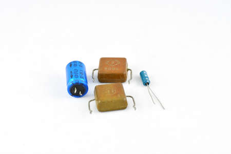 Radio components, batteries, capacitors, tantalum and electrolytic, passive electronic component, different specific capacity