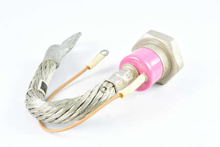 thyristor, one, high power, in a metal case pink color