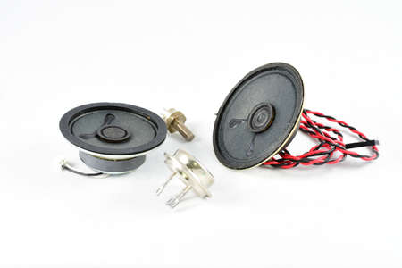 electrodynamic sound emitters, speakers, radio components, different sizes and ratings