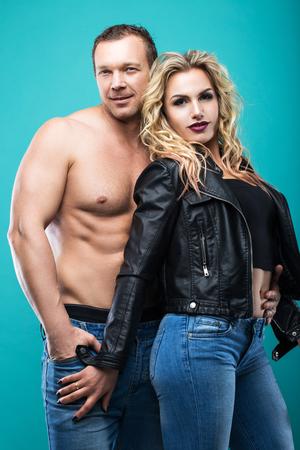 Beautiful passionate couple in love. Love concept. Stock Photo