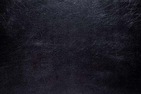 Black leather texture. macro photo. Taken in daylight. Banco de Imagens