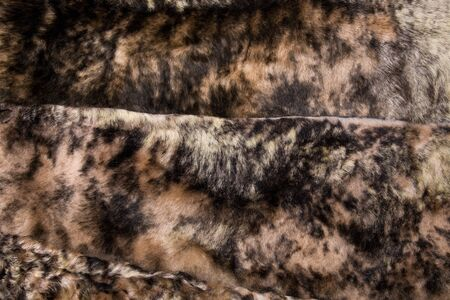 Fur texture close up. Fur on winter womens clothing.