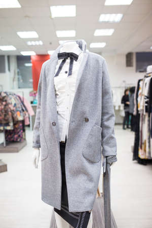 Womens clothing on the mannequin in the store