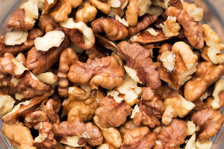 Texture of husks of walnuts, closeup. close-up.