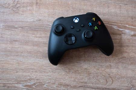 Joystick controller for playing on the new xbox series x console. Kiev, Ukraine - April 21, 2021 Sajtókép