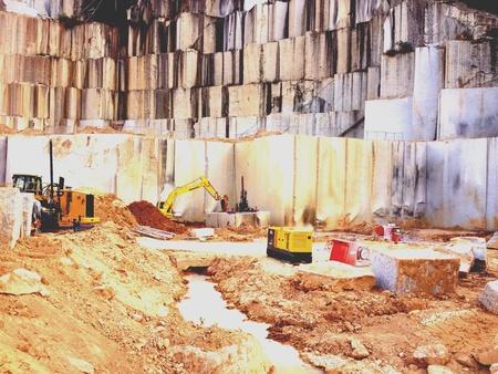 quarries: Granite stone quarries, Brazil.