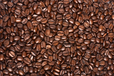Fried coffee beans background