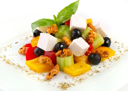 Fresh salad with vegetables, olives and feta cheese Stock Photo - 9201815