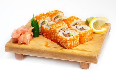 Ikura sushi with tuna inside