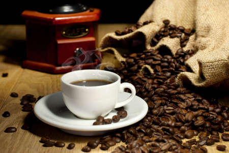 Nice view of coffee cup Stock Photo