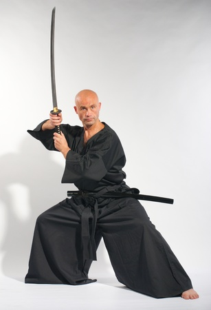 fighting styles: Ken-do warrior studio shot