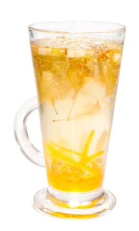 Linden tea on white background  photo