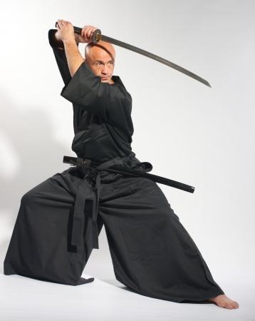 asian warrior: Ken-do warrior studio shot