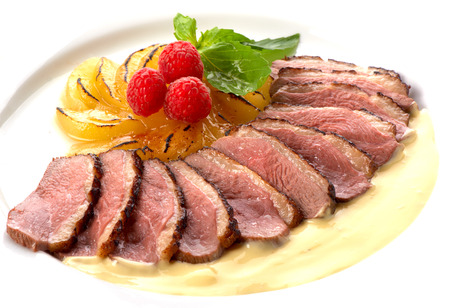 duck breast with pear