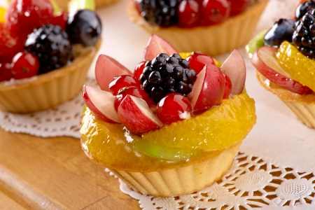 beautiful baking with berries and fruits  Stock Photo