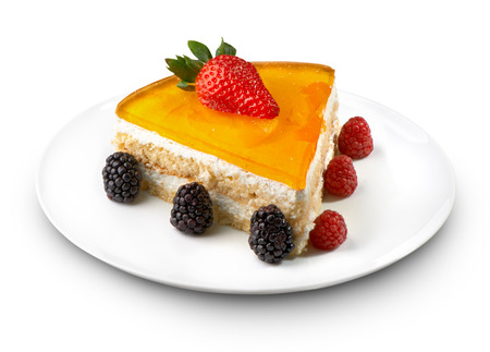 cheese cake dessert on white