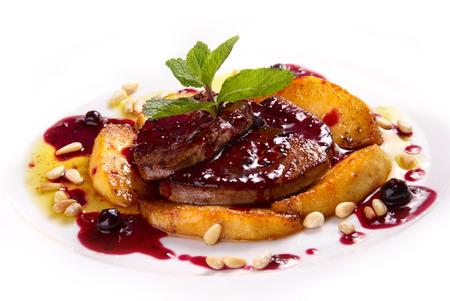 foie gras:  foie gras with berry sauce