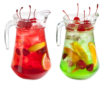 Sangria pitcher collection on white Imagens