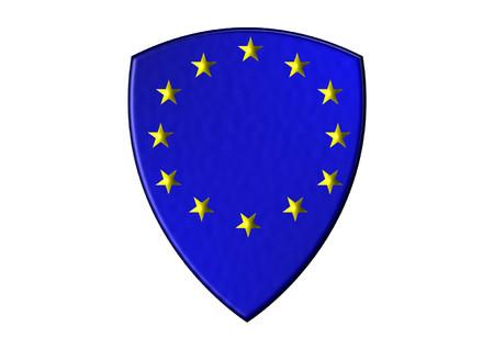 Europe Shield Stock Illustratie