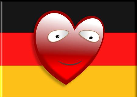 bandera alemania: Bandera de Alemania con el coraz�n