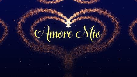 Spowiedź Amore Mio Love. Walentynki serce z czerwonego wina splash na białym tle na niebieskim tle. Dzielić się miłością. Zdjęcie Seryjne