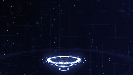 Abstract background. Glowing circles. Bright spiral. Space tunnel. Copy space. Close up. 3D. Lower allocation.