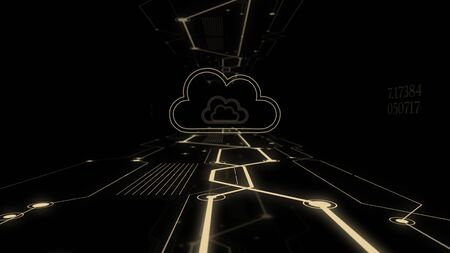 Cloud technology computing concept abstract background.