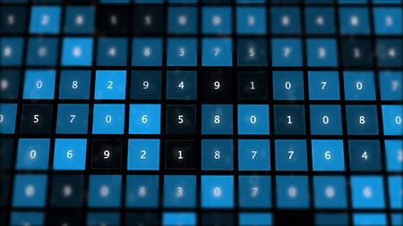 Abstract touchpad panel with number buttons. Stock Photo