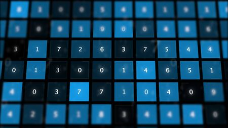 Numerology concept abstract background. Data system. Imagens