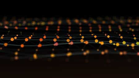 Data and coding concept abstract background.
