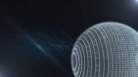 Science-fiction et technologie concept abstrait.