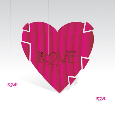 vectorrn: Valentine heart with love