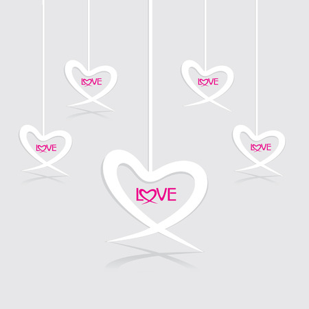 vectorrn: background of heart with love Illustration